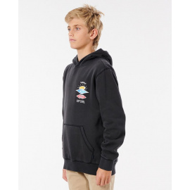 Mikina Rip Curl SEARCH ICON HOOD-BOY  Washed Black