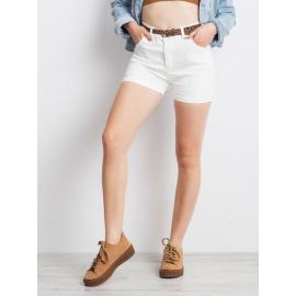 Damskie jeansowe szorty białe