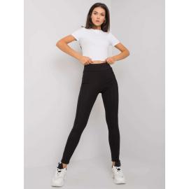 Czarne legginsy bawełniane
