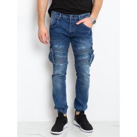 Niebieskie jeansowe joggery męskie