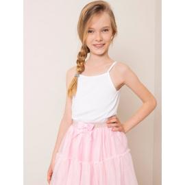 Bílý bavlněný top pro dívku