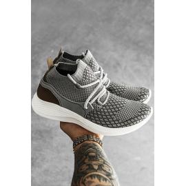 Světle šedé pánské boty ZX0162
