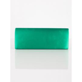 Gładka zielona satynowa kopertówka