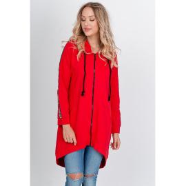 """""""FASHION"""" feliratos női oversize melegítő felső - piros,"""