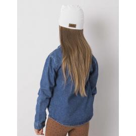 Biały turban dla dziewczynki