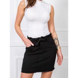 Czarna spódnica jeansowa