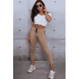 Spodnie damskie joggery MASSAL beżowe Dstreet UY0997