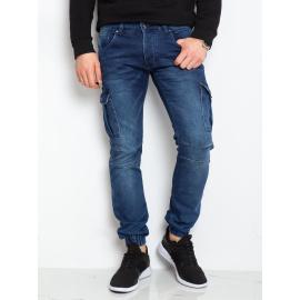 Niebieskie denimowe spodnie męskie