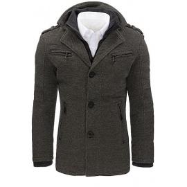 Pánský šedý rybí kabát CX0403