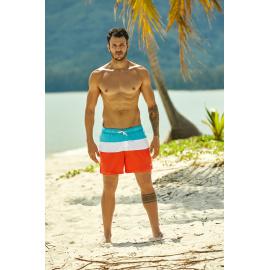 Kąpielówki Heat 37835-22X Pomarańczowo-niebieskie