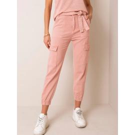 Špinavé růžové džínové nákladní kalhoty