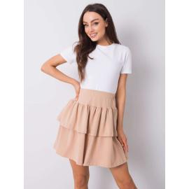 Béžová rozšířená mini sukně