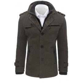 Men's gray herringbone coat CX0402
