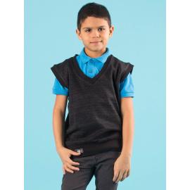 Chlapecký černý svetr bez rukávů