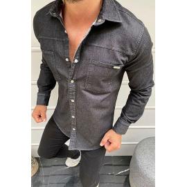Black men's long sleeve shirt DX1930
