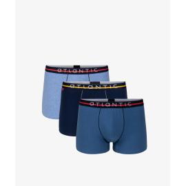 Boxers 3MH -004 3 csomag Navy Blue - Heather Blue - Blue