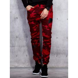 Jaiden červeno-pánské černé džíny