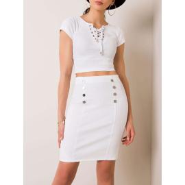 Biała spódnica damska