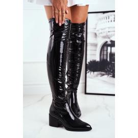 Women's High Boots Latex Black So close