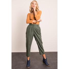 Bavlněné khaki kalhoty BSL