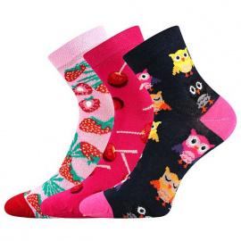 3PACK dětské ponožky Lonka vícebarevné (Dedotik - Mix B)
