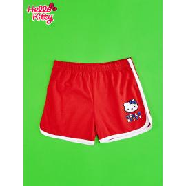 Červené šortky HELLO KITTY pro dívky