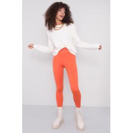 BSL Pomarańczowe gładkie legginsy