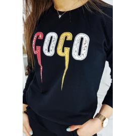 Dámská černá tepláková souprava COCO AY0210