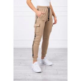 Pants cargo camel