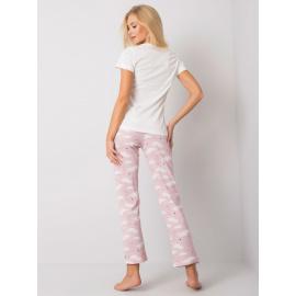 Biała damska piżama we wzory