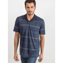Bawełniana męska koszulka polo niebieska