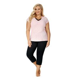 Růžové pyžamo Alice 3/4 Plus