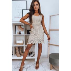 HELEN béžové šaty Dstreet EY1614