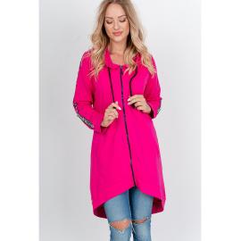 """""""FASHION"""" feliratos női oversize melegítő felső - rózsaszín,"""