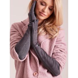 Damskie długie rękawiczki ciemnoszare