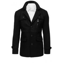 Pánský černý kabát CX0410