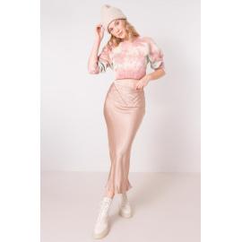 Béžová viskózová sukně BSL