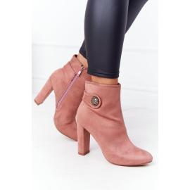 Classic Boots On A Block Heel Lu Boo Pink
