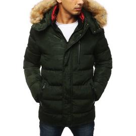 Green men's quilted winter jacket TX2955