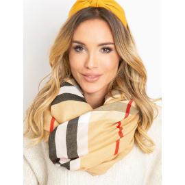 Béžový šátek s třásněmi