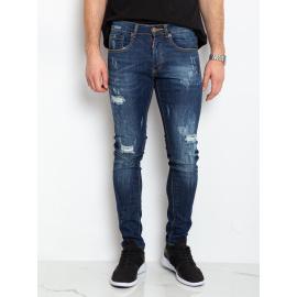 Niebieskie męskie spodnie jeansowe