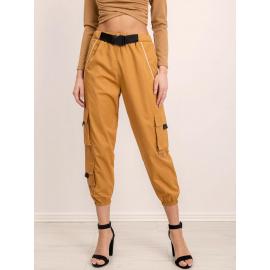 Luźne spodnie BSL beżowe
