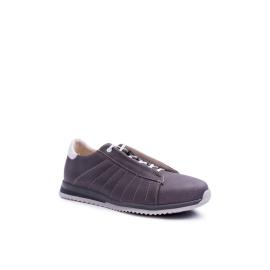 Men's Brogues Bednarek Sport Leather Shoes Grey Geos