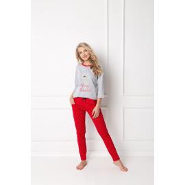 Piżama Cookie Long Grey-Red