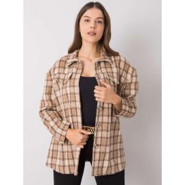 Béžová kostkovaná košile