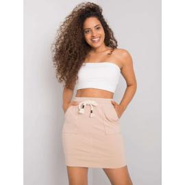 Beżowa spódnica dresowa damska
