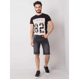 Czarne spodenki męskie jeansowe