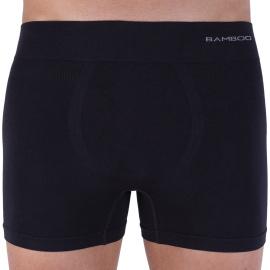 Pánské boxerky Gino bezešvé bambusové černé (54005)