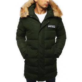 Pánská prošívaná zimní bunda parka TX2917 zelená