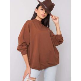 Alapvető barna pamut pulóver